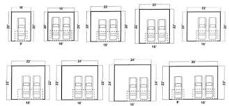2 car garage door dimensionsAffordable Construction The Garage Guys Garage Sizes and Styles