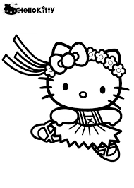 Hello kitty was born on november 1 in the suburbs of london and she lives there with her parents george and mary, and her twin sister, mimmy. Coloring Pages Hello Kitty Ballerina Crib