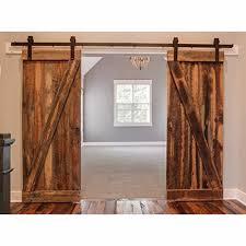 Amazon.com: WINSOON 8FT Antique Double Sliding Barn Door Hardware ...