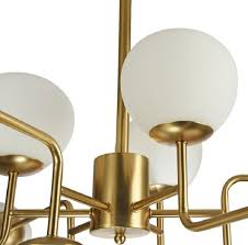 Casa Padrino Chandelier Gold White ø 110 X H 427 Cm Modern Chandelier With Round Frosted Glass Lampshades