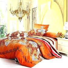 burnt orange bedding sets brown