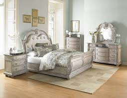 4 Piece Homelegance Palace Ii White Wash Sleigh Bedroom Set with ...