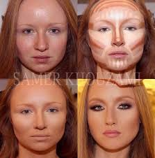 contouring a round face make up