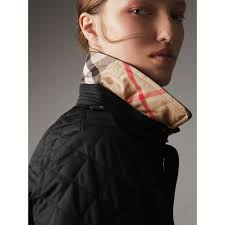 Diamond Quilted Jacket in Black - Women | Burberry United States & Diamond Quilted Jacket in Black - Women | Burberry United States - gallery  image 1 Adamdwight.com