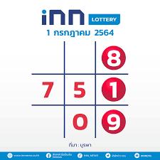 เลขดัง งวดวันที่ 1 กรกฎาคม 2564 กับ INN Lottery