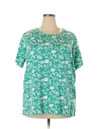 Blair Com Size Chart Details About Blair Women Green Short Sleeve T Shirt 2x Plus