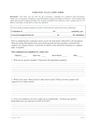 Employee Evaluation Template Performance Form Sample 360 Degree ...