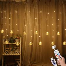 Curtain String Led Lights Dillitop Window Curtain String Lights Usb Fairy Lights 80 Led Lights 10 Twinkle Bulbs With Remote For Wedding Party Garden Bedroom Outdoor Indoor