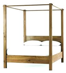 Queen Wood Canopy Bed Canopy Beds Queen Size Black White Bed Design ...
