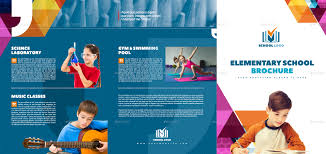 tri fold school brochure template 3xa4 tri fold school multipurpose brochure template by interado