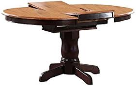 "Iconic Furniture Round Dining Table, 42"" x 42"" x 60"", Whiskey"
