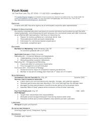 Service Manager Resume Food Service Resumes Resume Examples For Fast ...