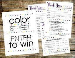 Color Street Enter To Win Door Prize Drawing Slip