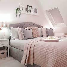 bedroom decor grey pink