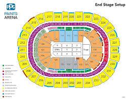 Ppg Paints Arena Row Chart Phil Collins Ppg Paints Arena