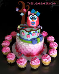Pink And Brown OWL 3 Tier Diaper Cake Baby Shower DecorationOwl Baby Shower Cakes For A Girl