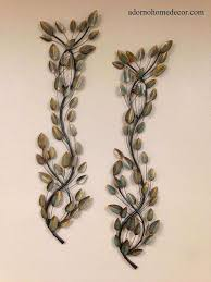 branch wall decor unique metal leaf branches set of 2 accent rustic decor modern nature wall