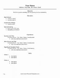 Resume Best Of Resume Template For Someone With No Work Experience