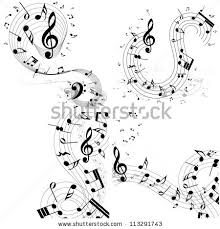 Music Staff Treble Clef Musical Designs Sets With Elements From Music Staff Treble Clef