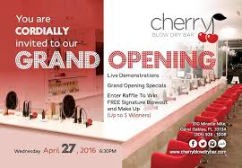 bar grand opening flyer south florida nights magazine cherry blow dry bar grand opening