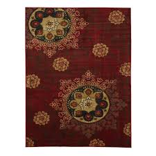 ottomanson studio collection red medallion design 3 3 x5 0 area rug ottomanson