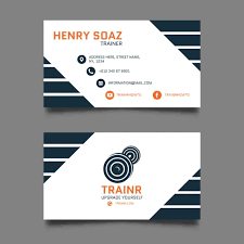 Free Personal Cards Personal Trainer Business Card Vector Free Download