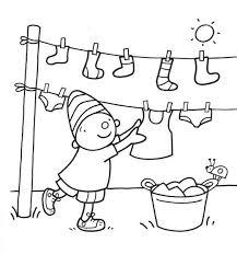 Kleurplaat Puk Kleding Bc Grote Wasjes Kleine Wasjes Knutselen