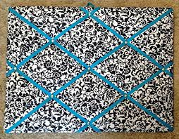 Damask Memo Board Unique Amazon Damask Scroll Turquoise Ribbon Frenchmemo Board