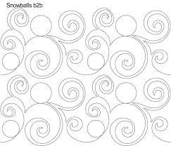 Anne Bright Designs Snowballs Digital Quilting Design By Anne Bright Quilting