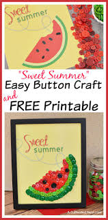 diy sweet summer watermelon on craft and free printable this easy summer craft is fun