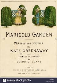 title page design marigold garden by kate greenaway stock photo stock photo title page design marigold garden by kate greenaway