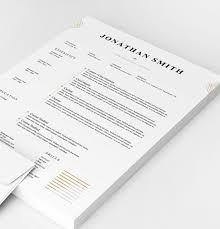 Elegant Resume Templates Delectable Elegant Resume Template Word PSD