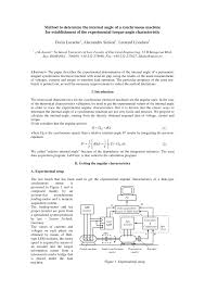 pdf method to determine the internal angle of a synchronous machine for elishment of the experimental torque angle characteristic