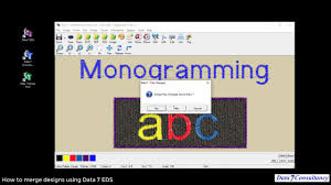 Combine Embroidery Designs How To Merge And Combine Embroidery Designs Using The Data 7 Eds Software