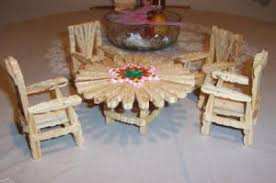 making doll furniture. re making furniture out of wooden clothespins doll