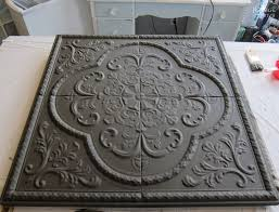 metal wall decor makeover metal tile wall art makeover with homemade chalk paint diy