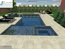 Plain Rectangular Pool Designs With Spa Custom Design Flush Sunledge Throughout Inspiration
