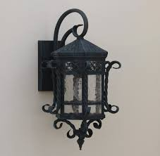 spanish outdoor hand forged wrought iron outdoor lighting