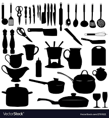 kitchen utensils silhouette vector free.  Vector Kitchen Tools Silhouette Vector Image To Utensils Vector Free N
