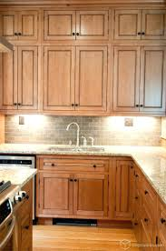 Kitchen Cabinets : Stained Kitchen Cabinets With White Trim ...
