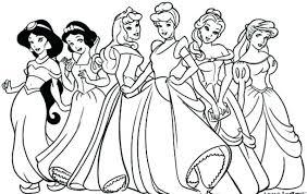 Disegni Principesse Disney Migliori Pagine Da Colorare