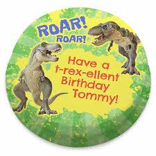 Personalised T Rex Dinosaur Birthday Cake Bakerdays