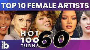 Billboard Top Female Artists Of All Time Mariah Carey