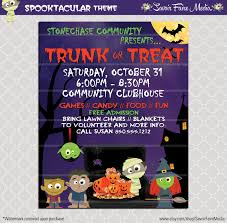 church invitation flyers trunk or treat flyer invitation poster halloween template church