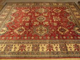 hand woven natural vegetable dye wool kazak rug