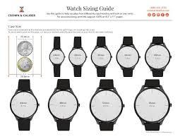 Watch Size Chart