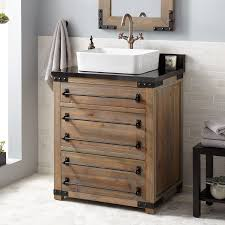 30 bonner reclaimed wood vessel sink vanity gray wash pine