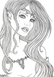 Elves Coloring Pages Get This Elf Coloring Pages For Adults Free