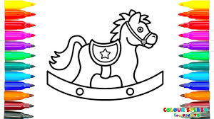 Small Picture How to Draw a Rocking Horse Coloring Pages Kids Learn Drawing