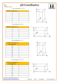 Coordinates Worksheets KS3 PDF | 3D Coordinates Worksheet